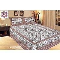 Jaipuri Pure Cotton 3 Piece Double Bed Sheet SRA2013