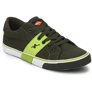 Sparx Modern O. Green FL. Green Canvas Shoes  215