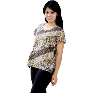 Pezzava: Bollywood Tunic Women's Wear Cotton Kurta Casual Wear TOP-A0366
