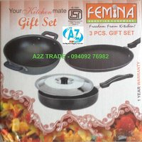 Femina 3 Pcs Non Stick Gift Set -ISI
