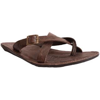 Brown Leather Slipper For Men-6052 Mardi Gras