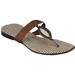 Yepme Women's Brown Stylish Sandals