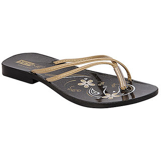 Yepme Women's Black & Beige Sandals