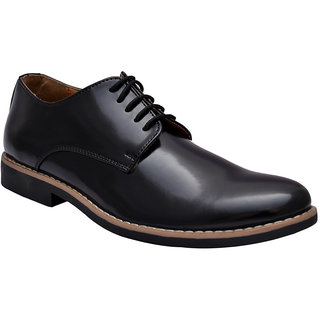 Hirels Black Derby Lace Up Shoes