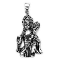 Sterling Silver  Hanumanji Pendant By Taraash