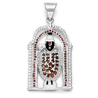Sterling Silver  CZ Balaji Pendant By Taraash