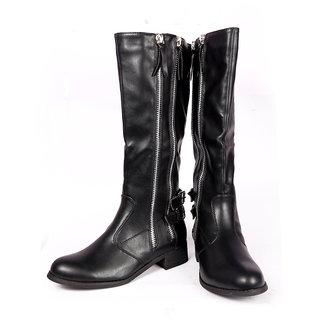 Stylish Black Long Boots
