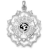 Sterling Silver  CZ OM Pendant By Taraash - 2404852