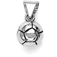 Sterling Silver  Football Pendant By Taraash
