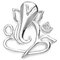 Sterling Silver  Ganesha Pendant By Taraash