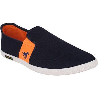 Oricum Men's Blue And Orange Casual Slip On Shoes