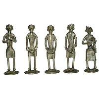 Dokra Lady Musicians 5 piece set