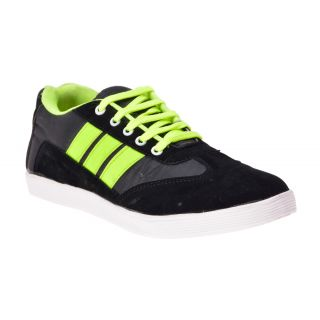 Boysons Black And Green Stylish Casual Shoes(opera34-blkgrn)