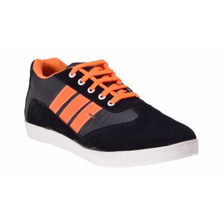 Boysons Black And Orange Lifestyle Casual Shoes(opera34-blkornge)