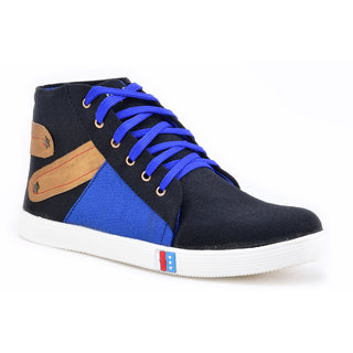 Boysons Black And Blue Ankle Casual Shoes(opera42-blkblu)