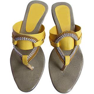 Womens Slip On, Ladies Slip On, Yellow Color Low Heel Slip On - Royal Stap