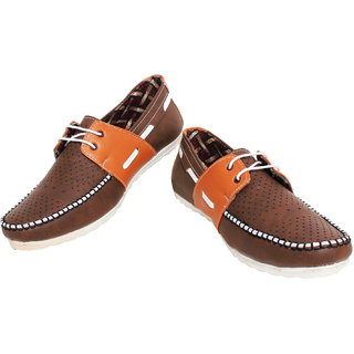 Detak Racky Casual Shoes Brown Light Brown For Man-code-14