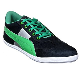 Sukun Black  Green Casual Shoes For Men (PP783BKG)
