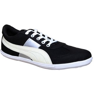 Sukun Black  White Casual Shoes For Men (PP783BKW)