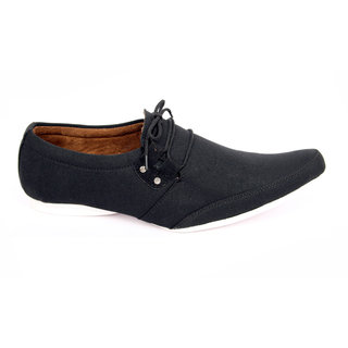 Sukun Black Casual Shoes For Men (RG102BK)