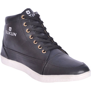 Sukun Black Casual Shoes For Men (SKU900BLK)