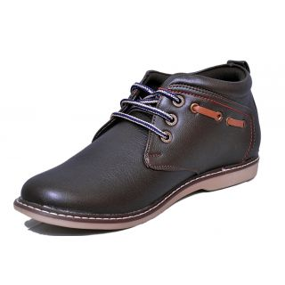 Black Tiger  Mens Synthetic  Leather Casual Shoes 071-Brown-6