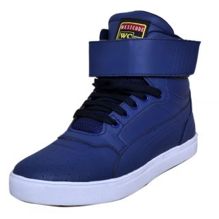 West Code Mens Synthetic  Leather Casual Shoes 7071-Blue-6