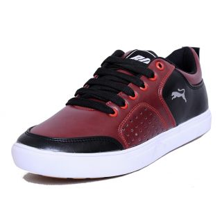 Black Tiger  Mens Synthetic  Leather Casual Shoes 8097-Cherry-6