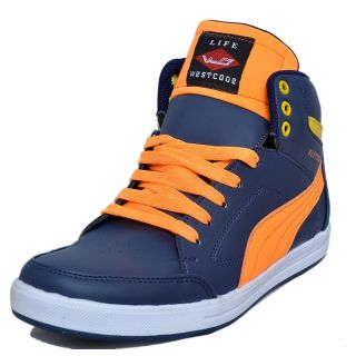 West Code Mens Synthetic  Leather Casual Shoes 903-Blue-6