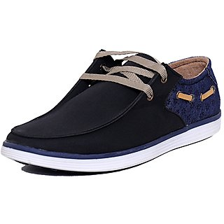 Black Tiger  Mens Synthetic  Leather Casual Shoes K-6-Black-6