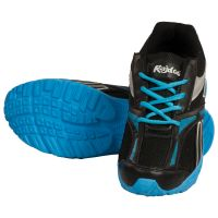 Tulaasi Black And Blue Running Synthetic Sports Shoes For Men