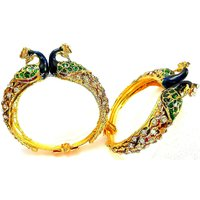 Kada Bracelet Set In Peacock Design
