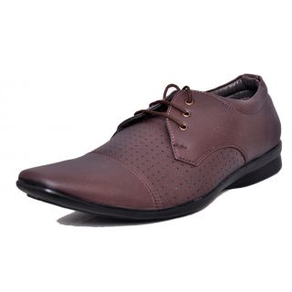 West Code Mens  Synthetic Leather Casual Shoes D-71-Brown