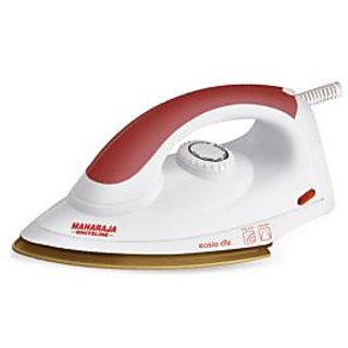 Maharaja Whiteline Easio Deluxe 1000 W Dry Iron (Red & White)