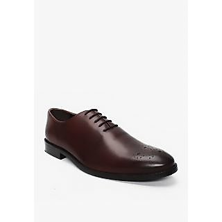 BRUNE DARK BROWN 100 GENUINE LEATHER FORMAL SHOES