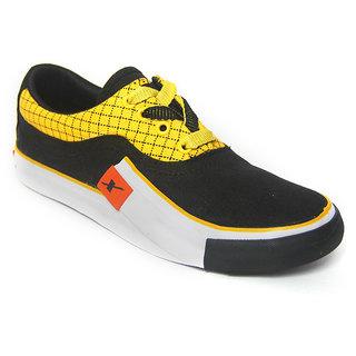 Sparx SC-198 Black Yellow Stylish Canvas Shoes For Men