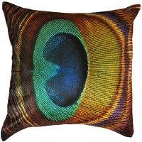 Morepankh Peacock Feather Cushion Cover Throw Pillow