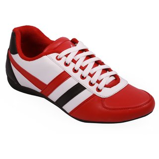 Stylos Mens Red And White Casual Shoes