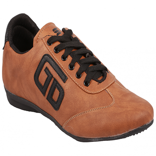 Stylos Mens Tan Black Casual Shoes