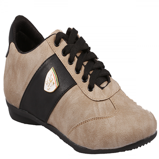 Stylos Mens Grey And Black Casual Shoes