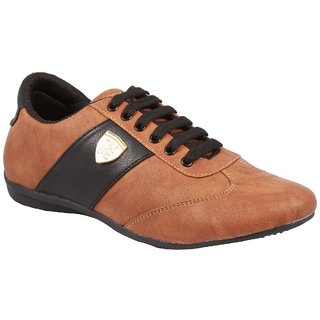 Stylos Mens Tan And Black Casual Shoes
