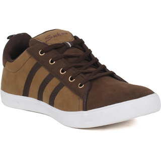 Sukun Brown Casual Shoes For Men (STY91788CHKBRN)
