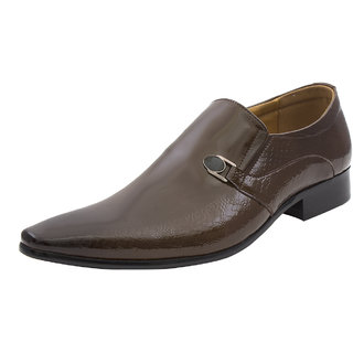 Michelangelo By Lords Mens Fancy Shoe With A Glossy Finish.2431 BROWN