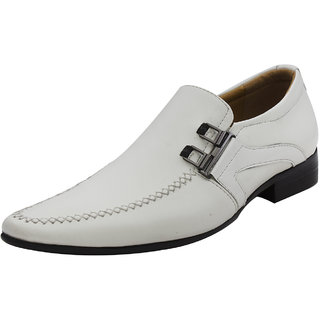 Michelangelo By Lords Mens Fancy Leather Shoe 2433 WHITE