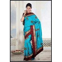 Womens Classic Embroidered Saree Design 249