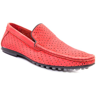 Sole Strings Mens Red Casual Shoes (LUESL909000RM00)