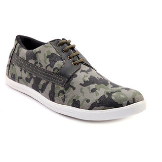 Sole Strings Mens Green Casual Shoes (SOLSARM030GRM00)