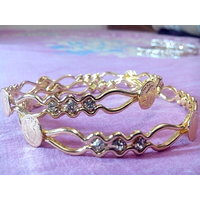 Shubh Gold Plated Bangles With CZ Diamonds Victorian Style