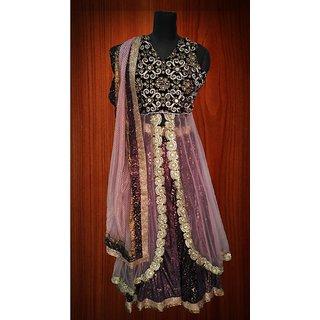 e6c62d4de055 Buy purple lehnga with pink jacket and dupatta Online - Get 56% Off