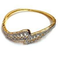 American Diamond Gold Plated Bangles For Women & Girl Party Wear